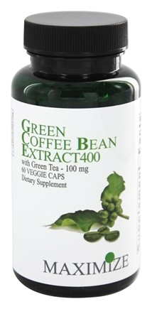 DROPPED: Maximum International - Green Coffee Bean Extract 400 mg. - 60 Vegetarian Capsules CLEARANCE PRICED