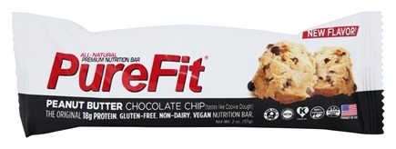 PureFit - All-Natural Nutrition Bar Peanut Butter Chocolate Chip - 2 oz.