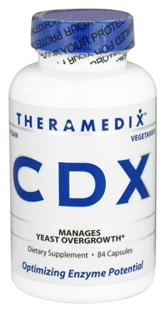 DROPPED: Theramedix - CDX Yeast Management Formula - 84 Vegetarian Capsules CLEARANCE PRICED