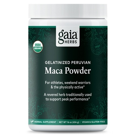 DROPPED: Gaia Herbs - Organic Gelatinized Maca Powder - 16 oz.