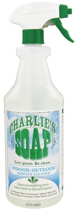 DROPPED: Charlie's Soap - Indoor & Outdoor Surface Cleaner - 32 oz. CLEARANCE PRICED