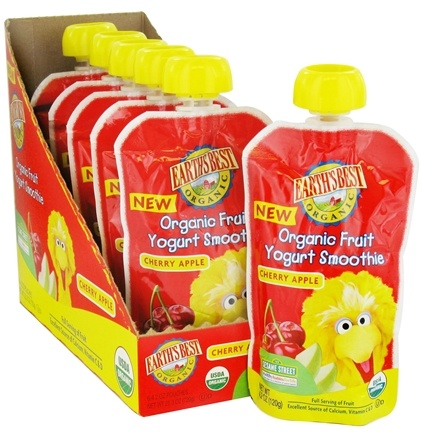 DROPPED: Earth's Best - Organic Fruit Yogurt Smoothie Cherry Apple - 4.2 oz. CLEARANCED PRICED