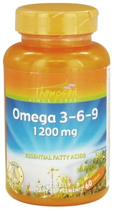 DROPPED: Thompson - Omega 3-6-9 Essential Fatty Acids 1200 mg. - 60 Softgels CLEARANCE PRICED
