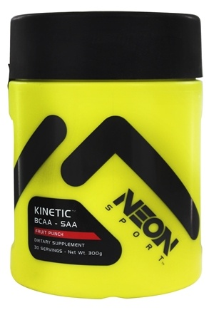 Neon Sport - Kinetic BCAA SAA Powder Fruit Punch 30 Servings - 300 Grams