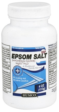 DROPPED: HUMCO - Epsom Salt - 4 oz. CLEARANCE PRICED