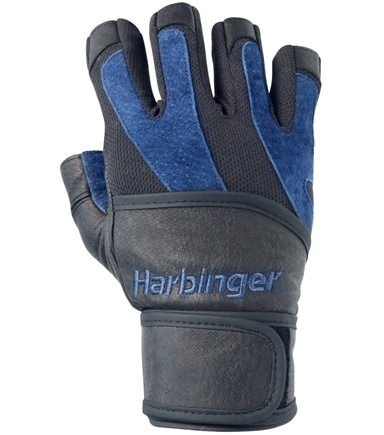 DROPPED: Harbinger - BioFlex Wristwrap Lifting Gloves - Large Black/Blue - 1 Pair CLEARANCE PRICED
