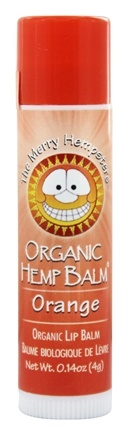 The Merry Hempsters - Organic Hemp Lip Balm Orange - 0.14 oz.