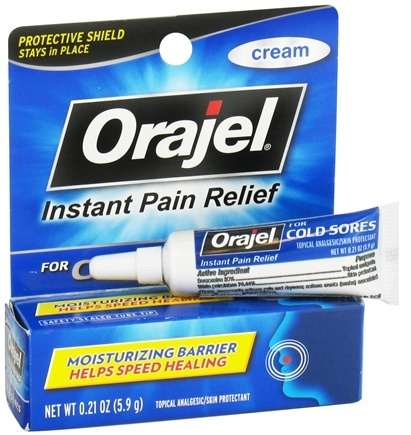 DROPPED: Orajel - Instant Pain Relief Cream For Cold Sores - 0.21 oz. CLEARANCED PRICED