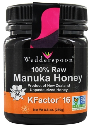 Wedderspoon Organic - Manuka Honey Premium 100% Raw Unpasteurized Active 16+ - 8.8 oz.