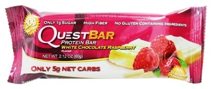 DROPPED: Quest Nutrition - Quest Bar Protein Bar White Chocolate Raspberry - 2.12 oz. Former Packaging