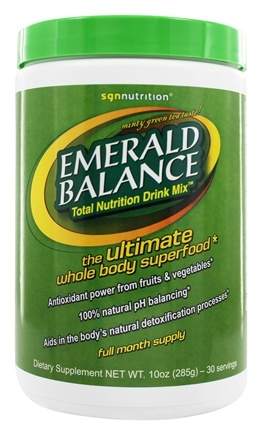 DROPPED: SGN Nutrition - Emerald Balance Total Nutrition Drink Mix - 10 oz.