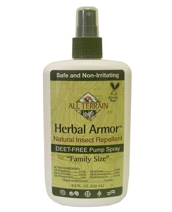 All Terrain - Herbal Armor Natural Insect Repellent Deet-Free Pump Spray - 8 oz.