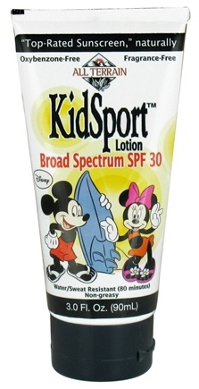 DROPPED: All Terrain - KidSport Mickey and Minnie Mouse Broad Spectrum Lotion 30 SPF - 3 oz. CLEARANCE PRICED