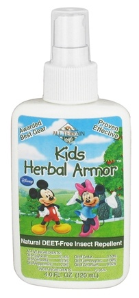 DROPPED: All Terrain - Herbal Armor Kids Mickey and Minnie Insect Repellent Deet-Free Pump Spray - 4 oz. CLEARANCE PRICED