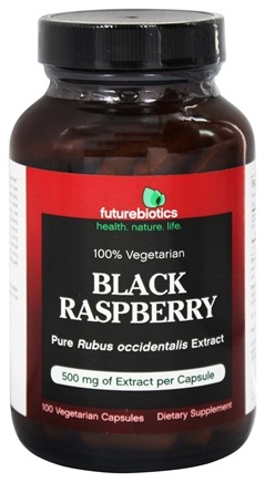DROPPED: Futurebiotics - Black Raspberry 500 mg. - 100 Vegetarian Capsules CLEARANCE PRICED
