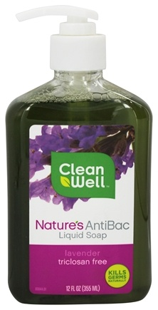 CleanWell - Nature's AntiBac Liquid Soap Lavender - 12 oz.