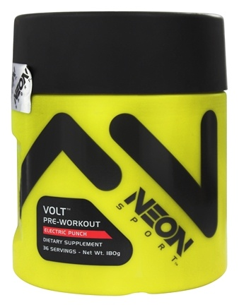 DROPPED: Neon Sport - Volt Pre-Workout Electric Punch 36 Servings - 180 Grams