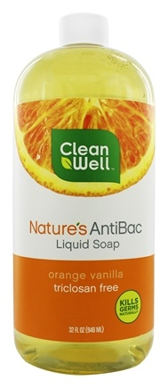CleanWell - Nature's AntiBac Liquid Soap Orange Vanilla - 32 oz.