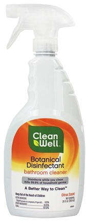 CleanWell - Botanical Disinfectant Bathroom Cleaner Citrus Scent - 26 oz.