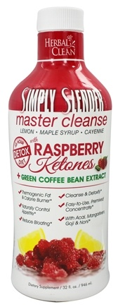 DROPPED: BNG Enterprises - Herbal Clean Simply Slender Master Cleanse with Raspberry Ketones & Green Coffee - 32 oz.