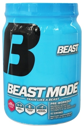 DROPPED: Beast Sports Nutrition - Beast Mode Pre-Workout Pink Lemonade 45 Servings - 650 Grams