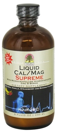 DROPPED: Nature's Answer - Liquid Cal / Mag Supreme Bone Support Vanilla, Strawberry, and Banana - 8 oz. CLEARANCE PRICED
