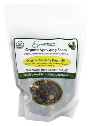 DROPPED: Sproutman - Organic Sprouting Crunchy Bean Mix Seeds - 12 oz.