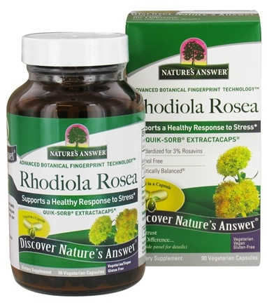 Nature's Answer - Extractacaps Rhodiola Rosea Stress Support 420 mg. - 90 Vegetarian Capsules