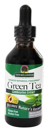 Nature's Answer - Super Green Tea Alcohol-Free Extract Peach - 2 oz.
