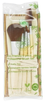 DROPPED: Honeybee Gardens - Eco-Friendly Professional Cosmetic Brush Set - 6 Piece(s) CLEARANCE PRICED