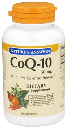 DROPPED: Nature's Answer - CoQ-10 50 mg. - 60 Softgels CLEARANCE PRICED