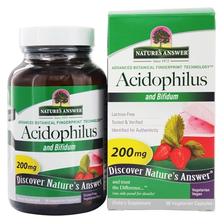 Nature's Answer - Acidophilus and Bifidum - 90 Vegetarian Capsules