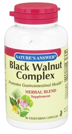 DROPPED: Nature's Answer - Black Walnut Complex Herbal Blend - 90 Vegetarian Capsules CLEARANCE PRICED