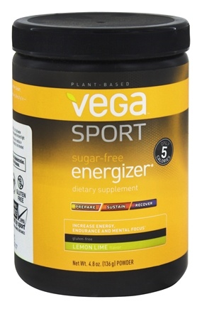 Vega - Vega Sport Natural Plant Based Sugar Free Energizer Lemon Lime - 4.8 oz.