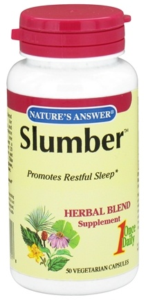 DROPPED: Nature's Answer - Slumber Once Daily Herbal Blend - 50 Vegetarian Capsules CLEARANCE PRICED
