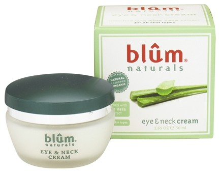 DROPPED: Blum Naturals - Eye & Neck Cream with Aloe Vera Extract - 1.69 oz.