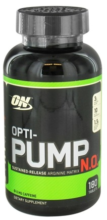 DROPPED: Optimum Nutrition - Opti-Pump N.O. Sustained-Release Arginine Matrix - 180 Tablets CLEARANCE PRICED
