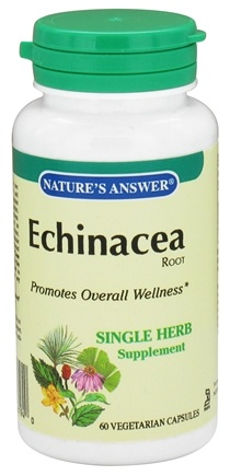 DROPPED: Nature's Answer - Echinacea Root Single Herb Supplement - 60 Vegetarian Capsules CLEARANCE PRICED