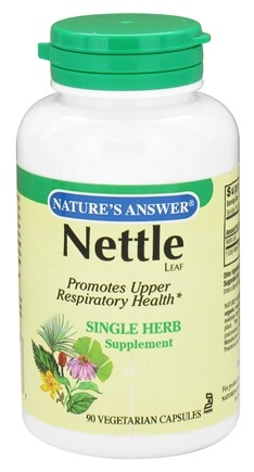 DROPPED: Nature's Answer - Nettle Leaf Single Herb Supplement - 90 Vegetarian Capsules CLEARANCE PRICED