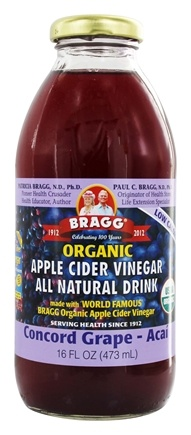 Bragg - Organic Apple Cider Vinegar All Natural Drink Concord Grape - 16 oz.