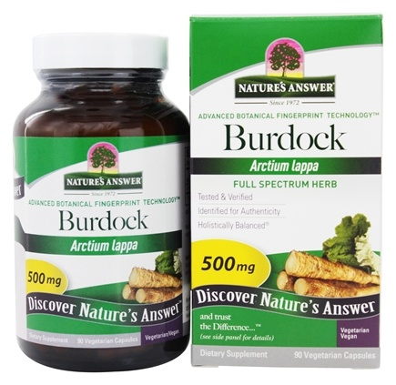 Nature's Answer - Burdock Root Single Herb Supplement - 90 Vegetarian Capsules