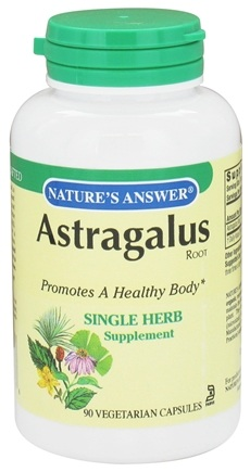 DROPPED: Nature's Answer - Astragalus Root Single Herb Supplement - 90 Vegetarian Capsules CLEARANCE PRICED