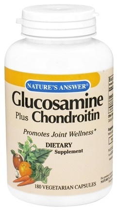 DROPPED: Nature's Answer - Glucosamine Plus Chondroitin - 180 Vegetarian Capsules CLEARANCE PRICED