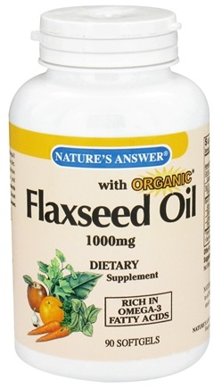 DROPPED: Nature's Answer - Organic Flaxseed Oil 1000 mg. - 90 Softgels CLEARANCE PRICED
