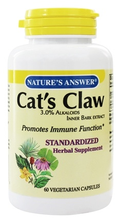 Nature's Answer - Cat's Claw 3% Alkaloids Inner Bark Extract - 60 Vegetarian Capsules