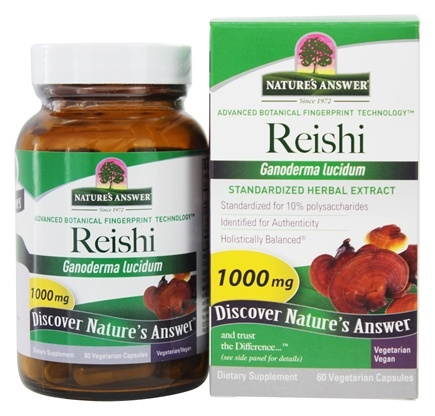 Nature's Answer - Reishi Mushroom Extract - 60 Vegetarian Capsules