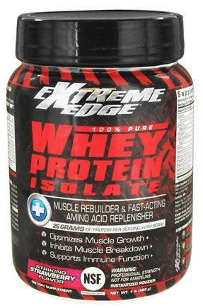 DROPPED: Extreme Edge - Whey Protein Isolate Striking Strawberry - 1 lb. CLEARANCE PRICED