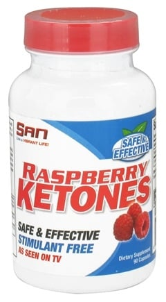 DROPPED: SAN Nutrition - Raspberry Ketones Stimulant Free 100 mg. - 90 Capsules CLEARANCE PRICED