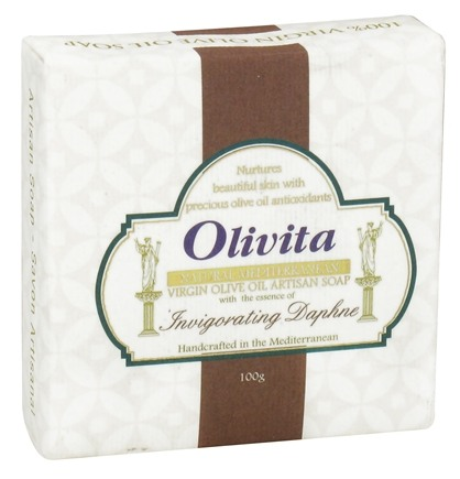 DROPPED: Olivita - Virgin Olive Oil Bar Soap Invigorating Daphne - 3.5 oz. CLEARANCE PRICED