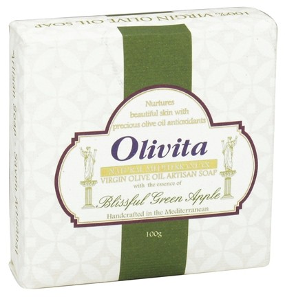 DROPPED: Olivita - Virgin Olive Oil Bar Soap Green Apple - 3.5 oz. CLEARANCE PRICED